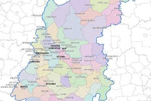 Женские имена на карте  региона